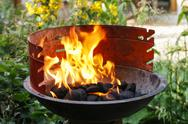 Stock Photo of barbecue with flames