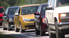 Traffic highway backup at exit Stock Footage
