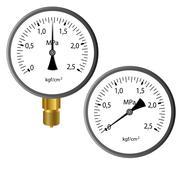 The gas manometer Stock Illustration