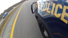 WVA state trooper on highway Stock Footage