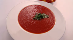 Hot Tomato Soup Tomato Background Stock Footage