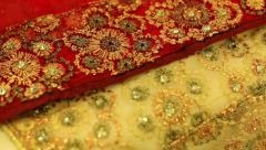 Beautiful fabrics Stock Footage