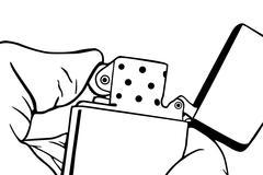 cigarette lighter - stock illustration