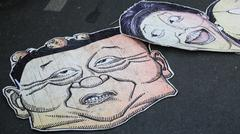 Thaksin and yingluck mimic banners Stock Photos