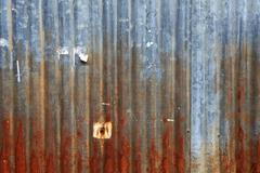 Rusty grunge zinc background Stock Photos