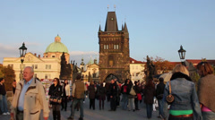 Evening atmosphere in Prague Stock Footage
