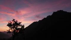 Sundown in the Alps Stock Footage