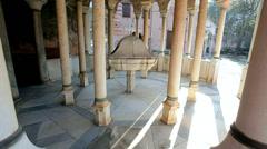 Afon Mountain, Greece, Mount Athos, frescoes - stock footage
