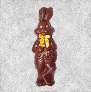 details of a big chocolate bunny - stock photo