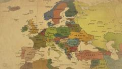 Old Map Of The World From Europe Stock Footage