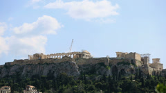 Ancient Acropolis in Athens Greece - stock footage