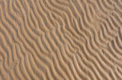 Ripple of sand beach Stock Photos
