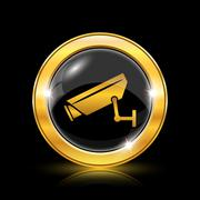 Stock Illustration of surveillance camera icon