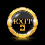 exit icon - stock illustration