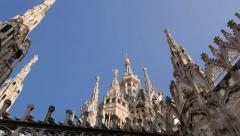 View of Milan city, Duomo cathedral, buildings and architecture, Italy 3 - stock footage