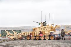 Armoured deminer BMR-3M (Russia) Stock Photos