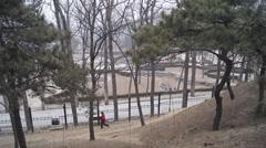 China Beijing Park Yuanmingyuan 24 Stock Footage