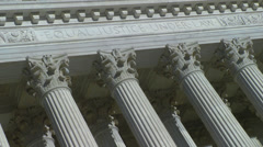 "Supreme Court ""Equal Justice Under Law"" Stock Footage"