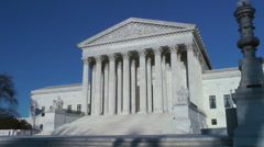 Supreme Court, no people, flag shadow - stock footage