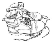 Fatigue boots Stock Illustration