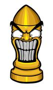 angry funny bullet - stock illustration
