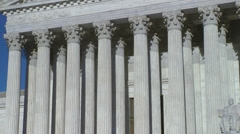 Slow zoom out US Supreme Court Stock Footage