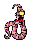 Painted crazy worm Stock Illustration