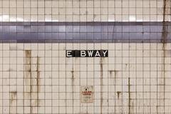 East Broadway Subway Station Wall NYC Stock Photos