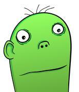 green monster - stock illustration