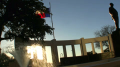 Texas Flag Dealy Plaza Statue Dallas Texas Stock Footage
