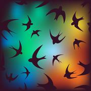 Background with swallow Stock Illustration