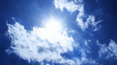 Blue Sky Beautiful Clouds Sunshine Stock Footage