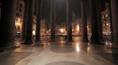 Columns of the forum by night Stock Footage