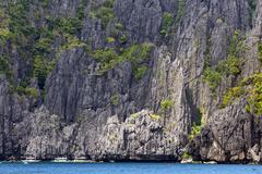 Limestone cliff in palawan Stock Photos