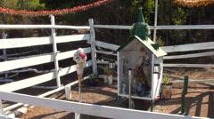 1305 Small religious shrine, - stock footage