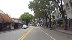 Driving POV Coconut Grove Florida 2 HD 0261 Stock Footage