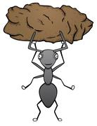 Strong ant - stock illustration
