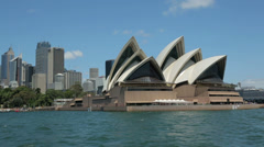 Tracking clip of sydney opera house, australia Stock Footage