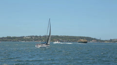 Boats and ferry sail in sydney harbour, australia Stock Footage