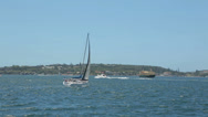 Stock Video Footage of boats and ferry sail in sydney harbour, australia