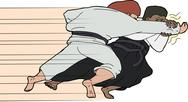 Stock Illustration of fast aikido throw