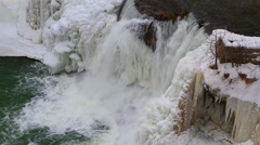 Stock Video Footage of Icy Cataract