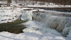 Icy Whitewater Loop - stock footage