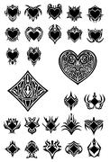 Clubs and hearts Stock Illustration