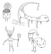 Characters Stock Illustration