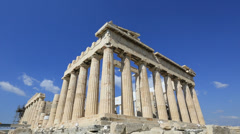 Time lapse Ancient Acropolis in Athens Greece Stock Footage