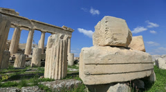 Ancient Acropolis in Athens Greece Stock Footage