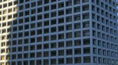 Time lapse Los Angeles sunrise shadow office building California USA Stock Footage