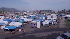 Typhoon Haiyan Refugee camp - stock footage