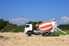 heavy concrete truck - stock photo